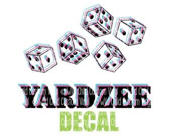 YARDZEE DECAL, YARDZEE Graphic Decals, Yardzee, Yardzee Decals