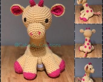 Cute Baby Giraffe - Crocheted and Stuffed (Amigurumi)