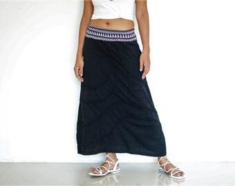 Boho Skirt, Bohemian skirt, gypsy skirt, very soft high quality cotton