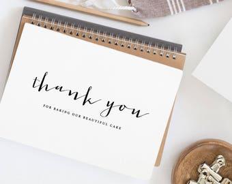 Thank You For Baking - Wedding Cake Baker Card, Card For Your Wedding Cake Designer, Wedding Card, Wedding Thank You, Wedding Baker Card, K4