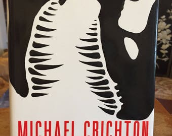 Book, The Lost World, Michael Crichton, Retro, 1995, Dinosaur, Sci Fi, Hardcover, Novel, Fiction, Antique Discoveries