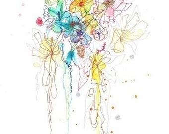 Art Print, Abstract Painting, Oil Painting, Fine Art Print , Giclee Print , Wall Art , Wall Décor , Flower Print 11x14