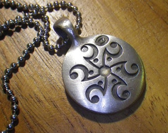 Bicos  Australian necklace Bico  pendant pewter Tribal necklace