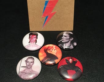"David Bowie 1"" Pin Pack"