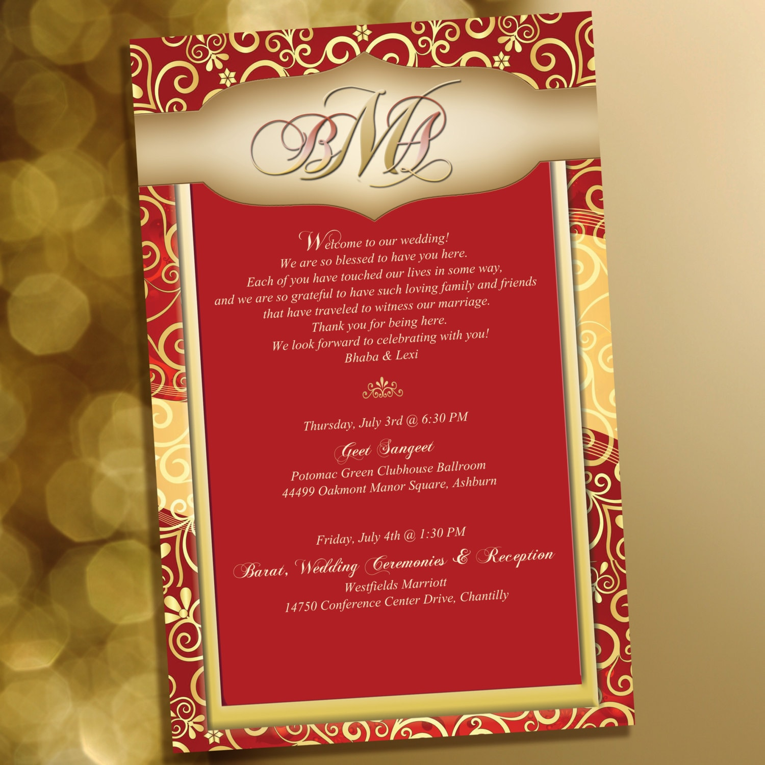 20 Indian Inspired Stationary For Welcome Note Wedding