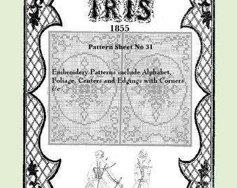 Iris Fashion Pattern 1855, No 31,  full size reprint