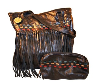 Western leather purse.  Made in USA.