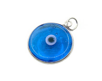 Light blue evil eye etsy 925k sterling silver light blue evil eye pendant evil eye jewelry evil eye charm mozeypictures Images