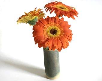 Ceramic Bud Vase, Matte  Pottery Flower Vase