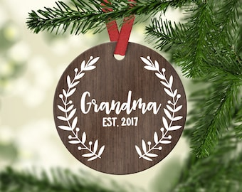 New Grandma Gift Christmas Gift for Grandma Pregnancy Announcement Grandma Christmas Gift for Grandma Pregnancy Reveal Grandma Ornament Cute