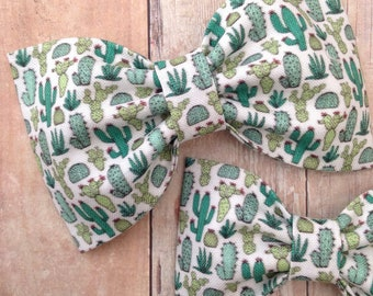 Cactus succulent bow hair bows baby headband summer preppy rockabilly