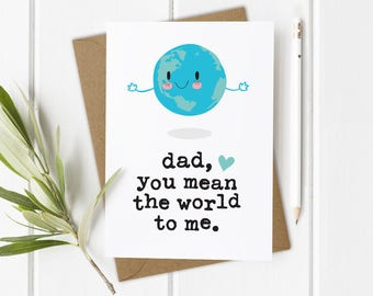 Funny Card for Father, Funny Dads Birthday Card, Dad Birthday Card Daughter, Funny Daddy Card, Funny Greeting Card Dad, 1st Dads Birthday