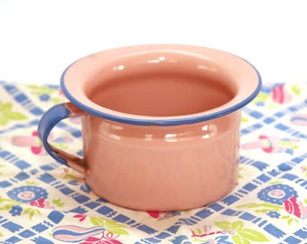 Antique Child's Pink Enamel Ware Chamber Pot 1930's-40's Rare Color