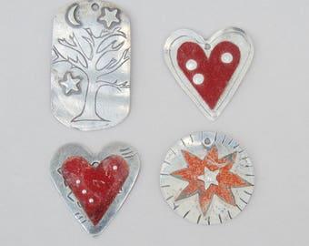 4 Sterling Pendants. Handmade . Supplies .