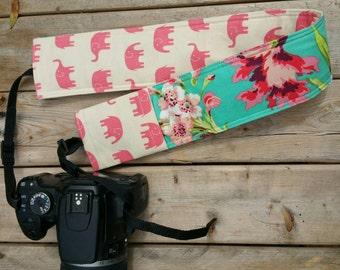 DSLR-Kamera-Strap-Abdeckung, reversible gepolsterte Kamera Gurt, Elefant-Kamera-Strap-Abdeckung, Deckglas auf Kamera Gurt Abdeckung süße Safari gepolstert