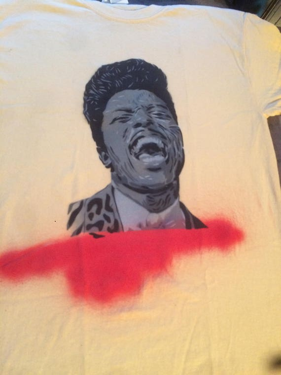 Little Richard spray painted shirt
