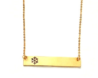 Snowflake Bar Necklace