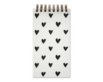 Mini Heart Letterpress Notebook