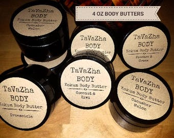 Peaches and Cream--Four-Ounce Handcrafted Kokum Body Butter