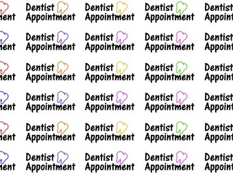 Dentist Appointment Wordy Icons WI005