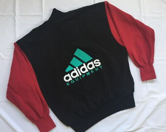 Vintage 90' ADIDAS Equipment Big Logo Half Zip