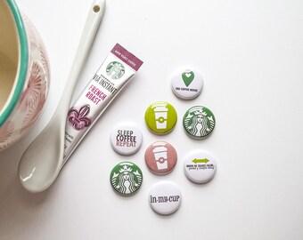 Coffee - StarBucks - Upcycled Mini Flair set
