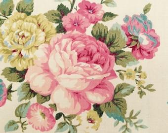 English rose Garden fabric - one yard