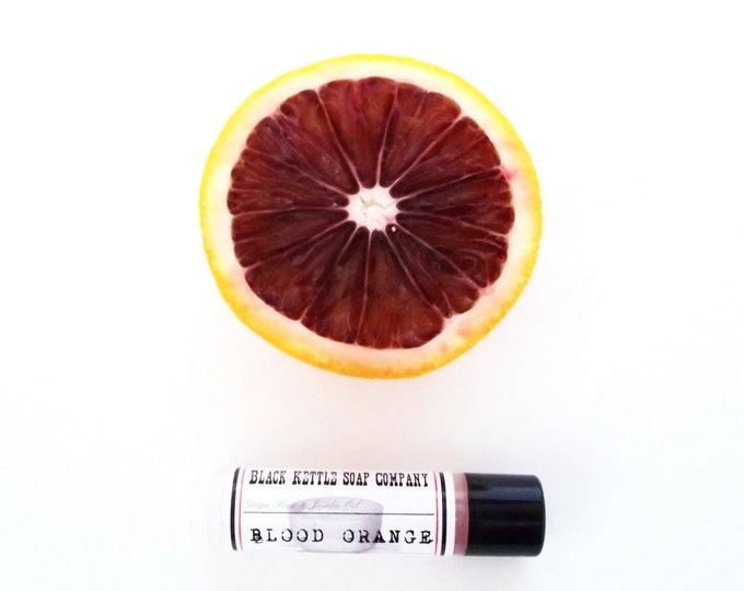 Featured listing image: Lip Balm BLOOD ORANGE essential oil Lip Butter ... Black Kettle