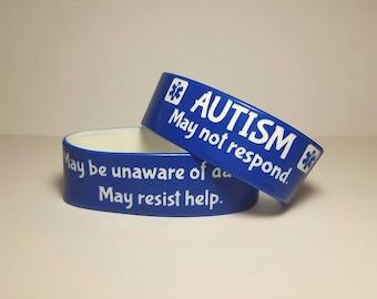 Autism Medical Alert Wristband Safety Bracelet