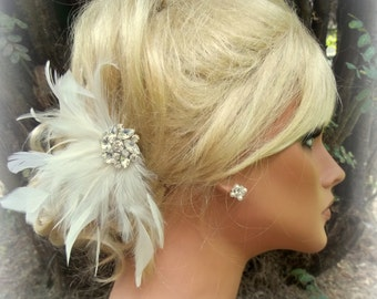 Wedding Fascinator, Fascinator, Wedding Hair Clip, Headpiece  Fascinator, Feather Fascinator, Feather Hair Clip, Hairpiece,  Bridal Comb