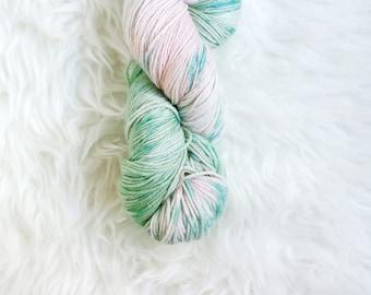 strawberry mint - MCN sock yarn - merino cashmere nylon