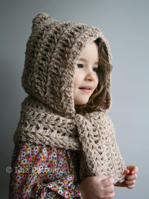 Crochet pattern instant download crochet hat pattern hooded zoom bankloansurffo Images