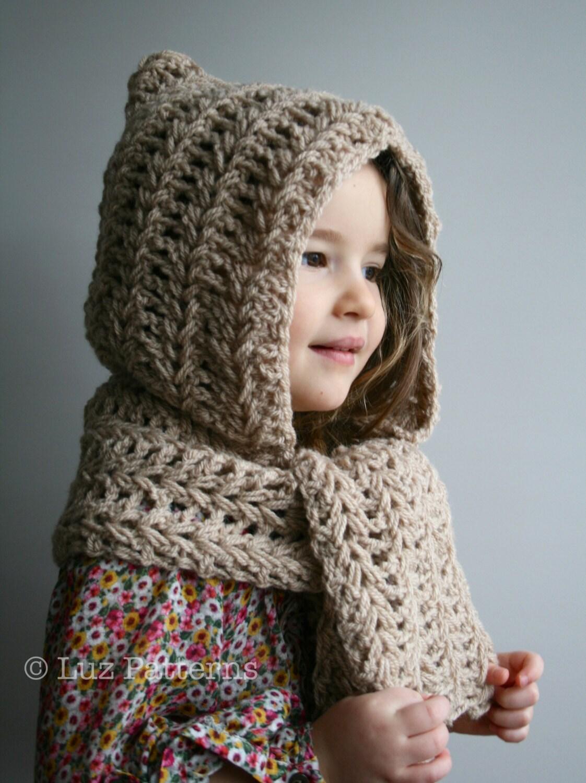 Crochet Pattern Instant Download Crochet Hat Pattern Hooded