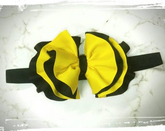 Emma wiggle ruffled bow headband