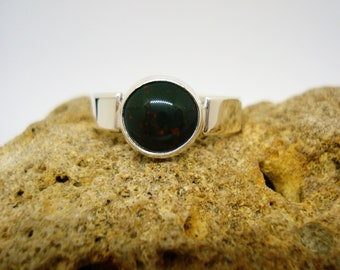 Mens Bloodstone Ring-Sterling Silver