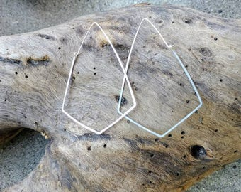 Sterling Silver, or, Gold Fill, Hoop Earrings, Hammered Hoops, Hoop Earrings, Hammered Earrings, Silver, Earrings, geometric, Dainty Hoops