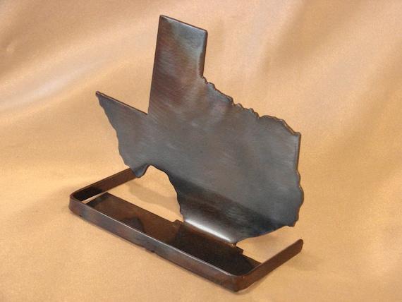 Texas business card holder metal standing art colourmoves Choice Image