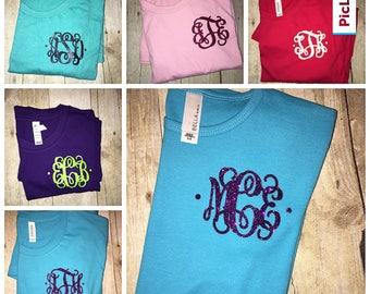 Monogram Shirt, Monogram Shirts for Women, Personalized Monogram Shirt, Chest Monogram Shirt,  Monogram Gifts for Women, Gifts for Her