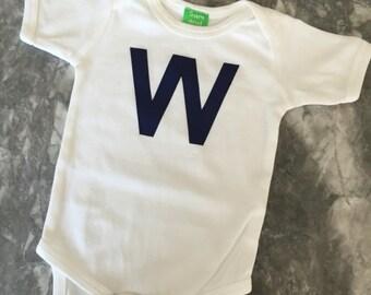Chicago W short sleeve kids unisex shirt, onesie, onezee, children's t-shirt chicago, Illinois t-shirt, chicago, 0-3 month to 8 years