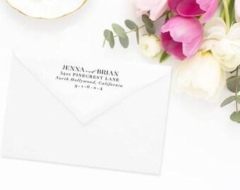 Return Address Stamp, Address Stamp, Custom Address Stamp, Wedding Return Address Stamp, Personalized Return Address Stamp, Rubber Stamp #55