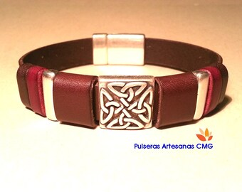 Leathercraft 13mm / Celtic Knot / bracelet skin genuine and legitimate - man