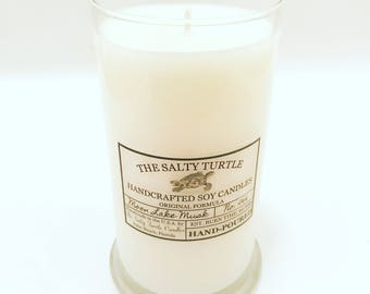 MOON LAKE MUSK - Handcrafted Salty Turtle Signature Soy Candle - 12, 16 or 21 ounce