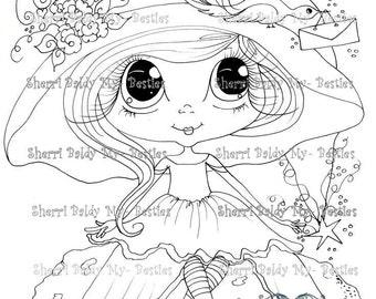 INSTANT DOWNLOAD Digital Digi Stamps Big Eye Big Head Dolls NEW Besties img735 Bestie Eyes My Besties By Sherri Baldy
