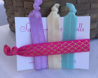 Mermaid Elastic Hair Ties