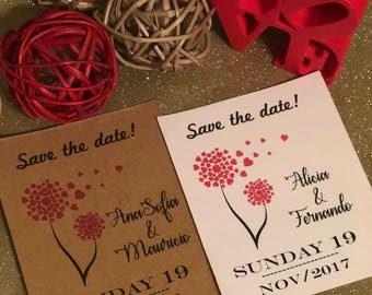 Save the date cards (set of 6), personalized cards