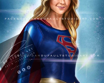 """DC and CW's 'Supergirl' 11x17"""" Artist Signed Print"""