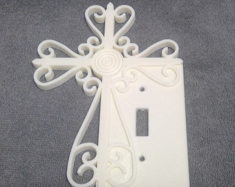 """Unique & Beautiful """"Scroll Cross"""" Switch Cover Plate"""