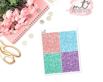 Spring Break Glitter Headers || 28 Planner Stickers || Erin Condren Life Planner, Happy Planner