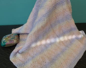 Pram and Cot Blanket - Hand Knitted Original.