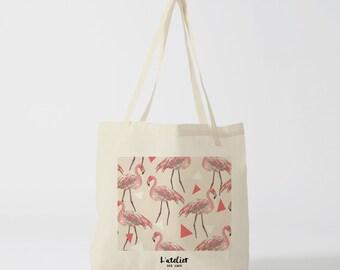 X36Y Tote bag Flamingo, bag, shopping bag, shopping bag, current bag, cotton bag, tote bag, beach bag, bag and luggage bags